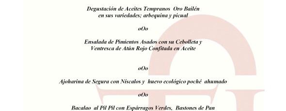menú XIV Jornadas del Renacimiento 2015